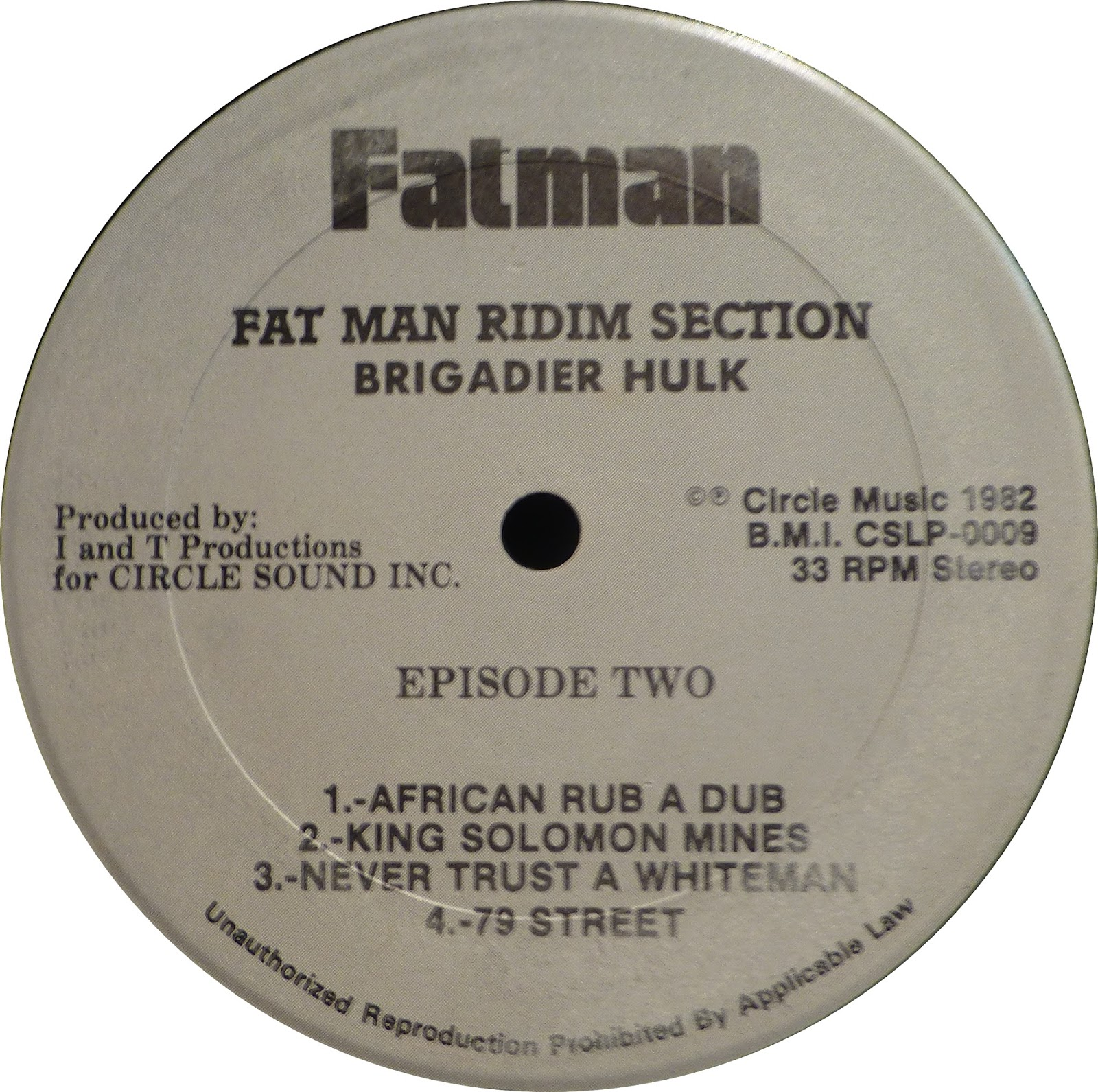 Fatman Ridim Brigadier Hulk Dub In South Africa
