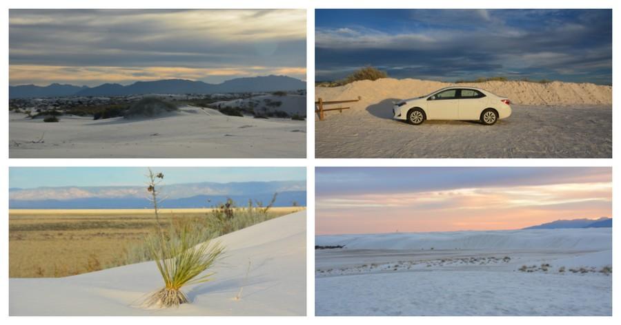 Coucher de soleil sur White Sands