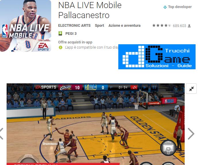 Trucchi NBA LIVE Mobile  Mod Apk Android v1.2.6