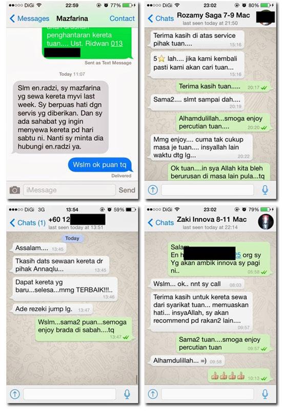 Kota Kinabalu Car Rental - Testimoni