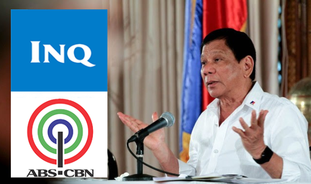 "Duterte calls ABS-CBN, Inquirer garbage, ""Mga bastos kayo"""