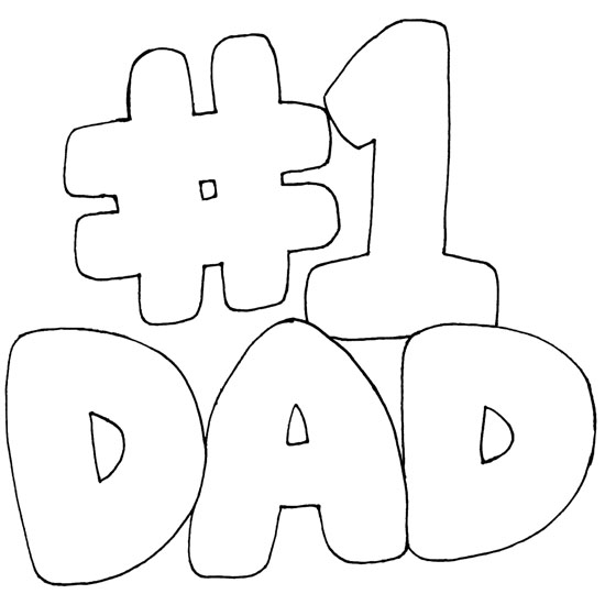 transmissionpress: # 1 Dad of Father Coloring Pages