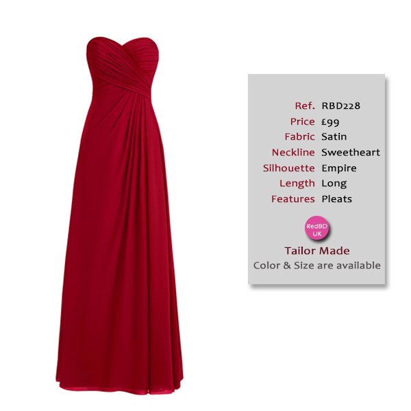 Gorgeous Sweetheart Strapless Long Bridesmaid Dress with Pleats Details