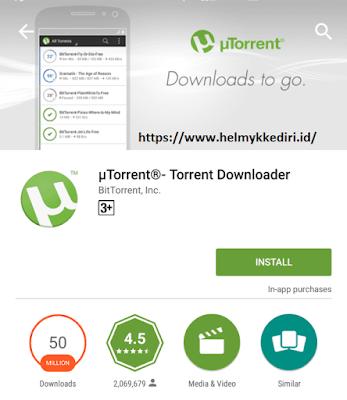 menggunakan utorrent diandroid untuk download