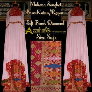 gambar MUKENA SONGKET Prada Bali Paling Anyar  Peach