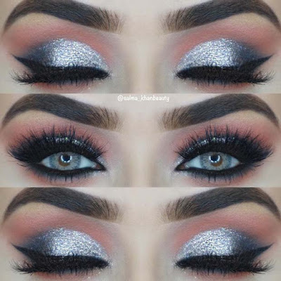 14 Sparkly Silver Eyes Makeup Looks