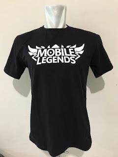 Kaos Baju Tshirt Gaming Mobile Legends ML Black