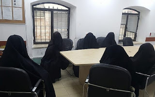 Two women and four minors are seen at a police station after being detained in a raid on an underage wedding in the ultra-Orthodox Mea Shearim neighborhood of Jerusalem, on November 29, 2018. (Israel Police)Two women and four minors are seen at a police station after being detained in a raid on an underage wedding in the ultra-Orthodox Mea Shearim neighborhood of Jerusalem, on November 29, 2018. (Israel Police)