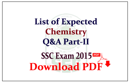 List of Expected Chemistry Questions and Answers Capsule