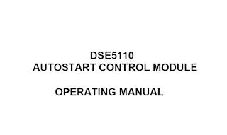 DSE5110 Manual
