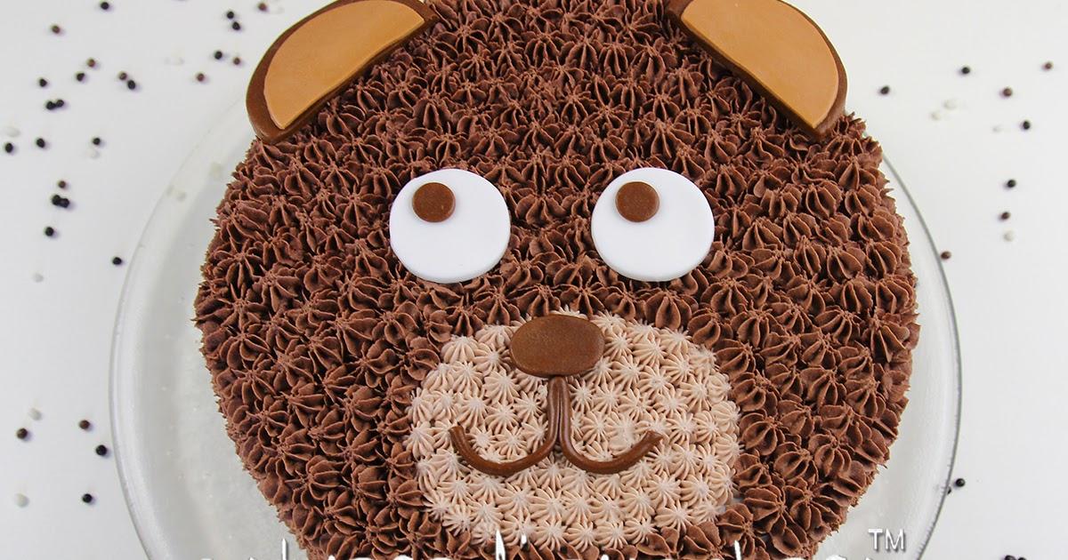 Torta orsetto tutorial: faccia dell'orso realizzata con la sac a poche