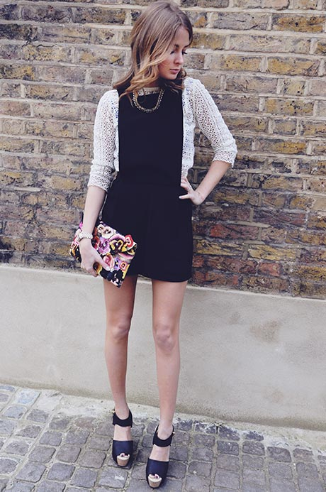 Black, Made In Chelsea, MIC, Millie Mackintosh, Playsuit, Tailored, Warehouse, Dungarees, Shorts, Pinafore