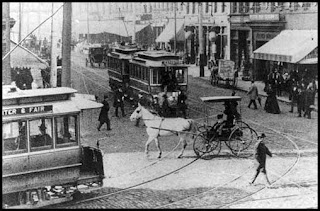 Streetcars in Atlanta, ca. 1900