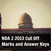 NDA 2 2013 Cut Off Marks