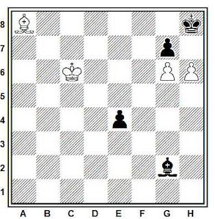 Estudio artístico de ajedrez compuesto por L. Kubbel (Listok Shakmatnovo Kruzhka Pretrogub, 1921)