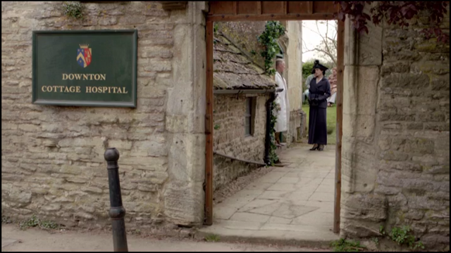 Cottage Hospital from Downton Abbey in the village of Bampton Oxfordshire