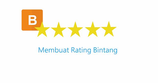 cara memasang bintang rating dan efek dari bintang rating di blog untuk SEO