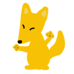 Yellow Fox Fooko greeting