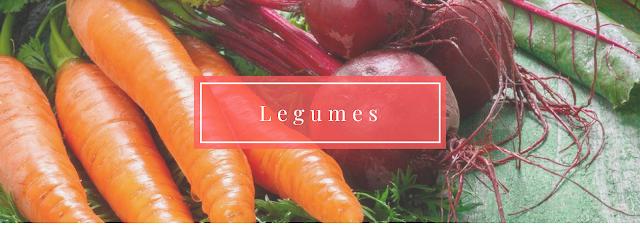 Safra Dezembro: Legumes: abobrinha brasileira, beterraba, cenoura, cogumelos, pimentão amarelo, pimentão verde, pimentão vermelho, tomate, vagem macarrão.