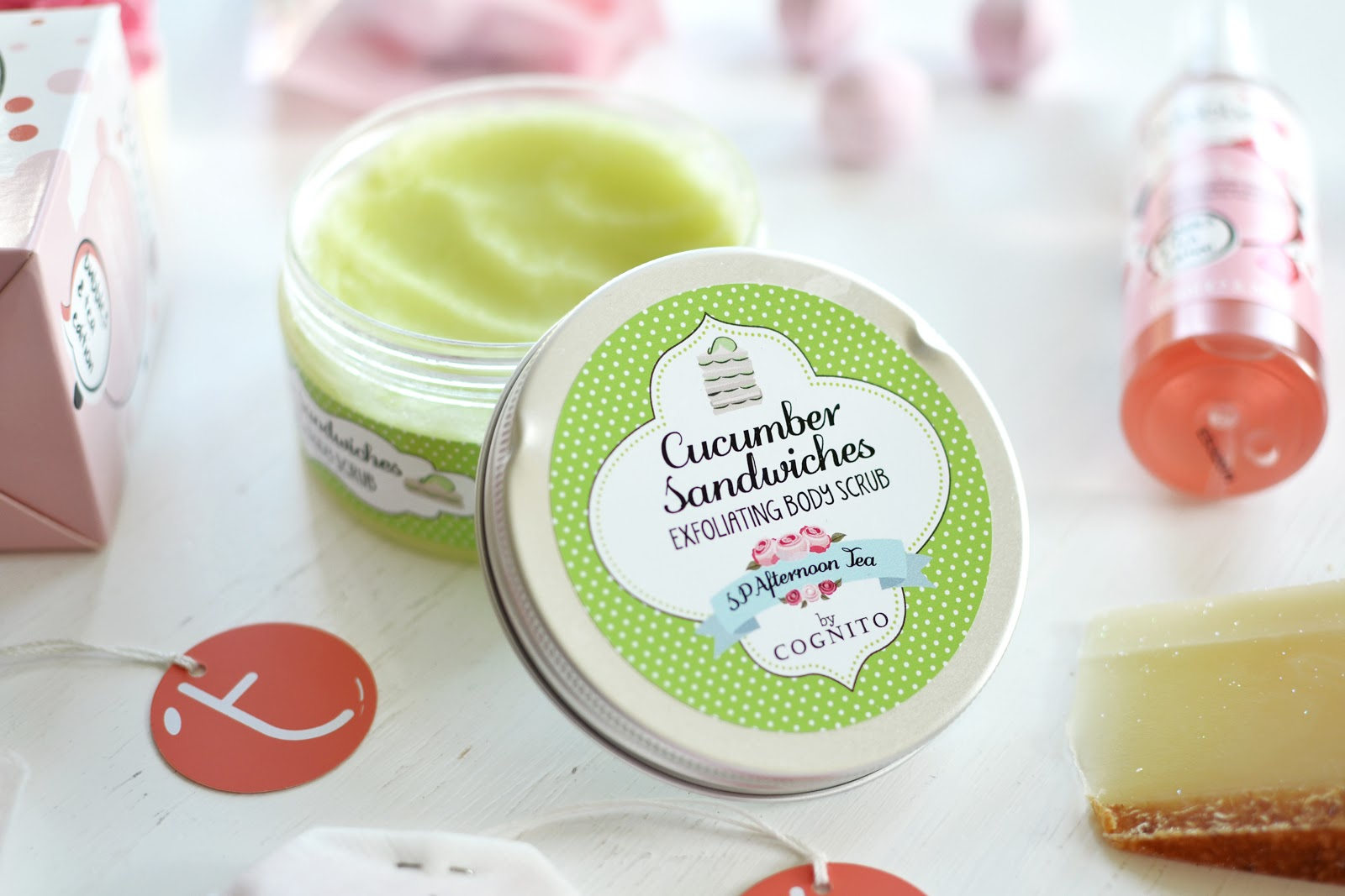 cucumber sandwiches body scrub