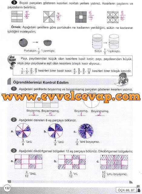 4. Sınıf Yakın Çağ Yayınları Matematik Ders Kitabı 132. Sayfa Cevapları 4. Ünite