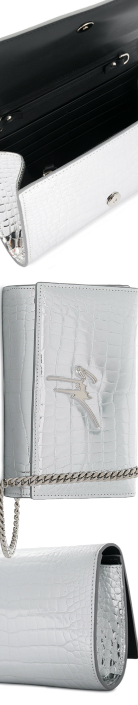 GIUSEPPE ZANOTTI DESIGN Cleopatra Shoulder Bag in Silver