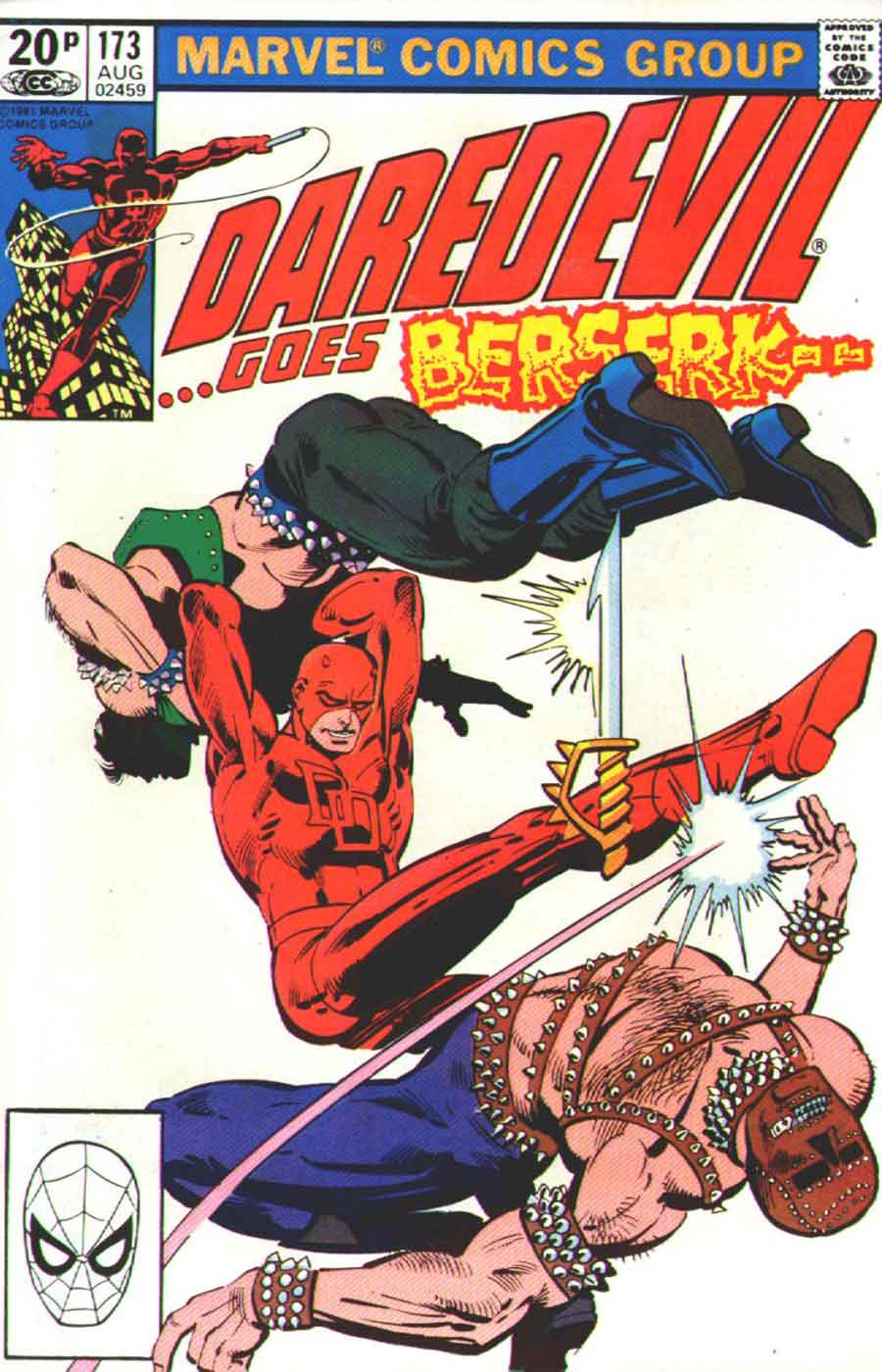 Daredevil v1 #173 marvel comic book cover art by Frank Miller
