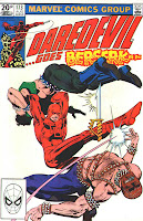 Daredevil v1 #173 marvel comic book cover art by Frank Miller