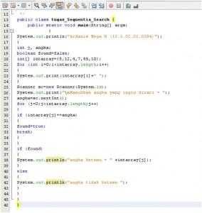 Tutorial Mencari Suatu Angka Menggunakan Sequential Search Java