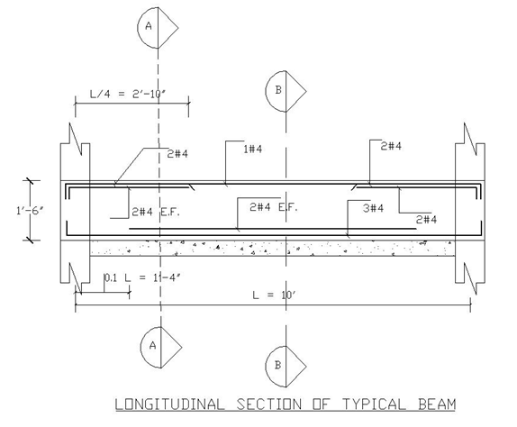 Longitudinal Section of a Typical Beam