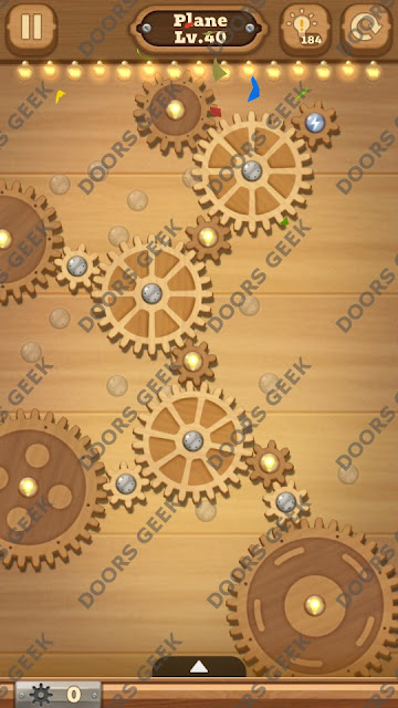 Fix it: Gear Puzzle [Plane] Level 40 Solution, Cheats, Walkthrough for Android, iPhone, iPad and iPod
