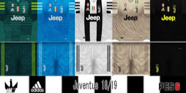 big sale 59fee 6d69e Juventus FC 2018/19 Kits - PES 6
