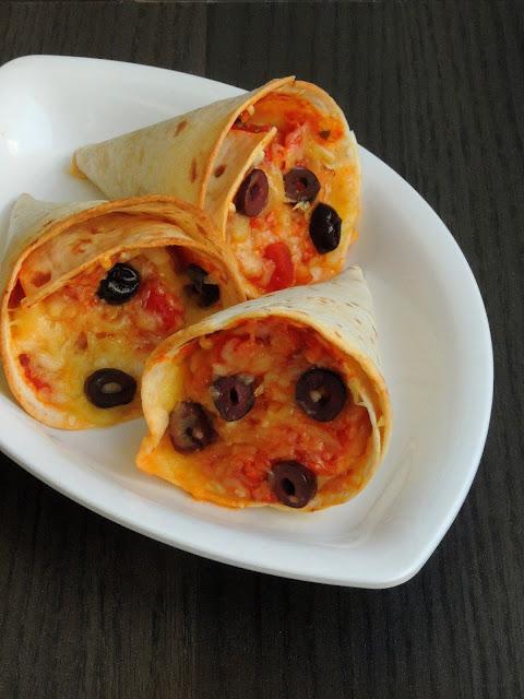 Tortilla Cone Pizza, Baked Cone Pizza