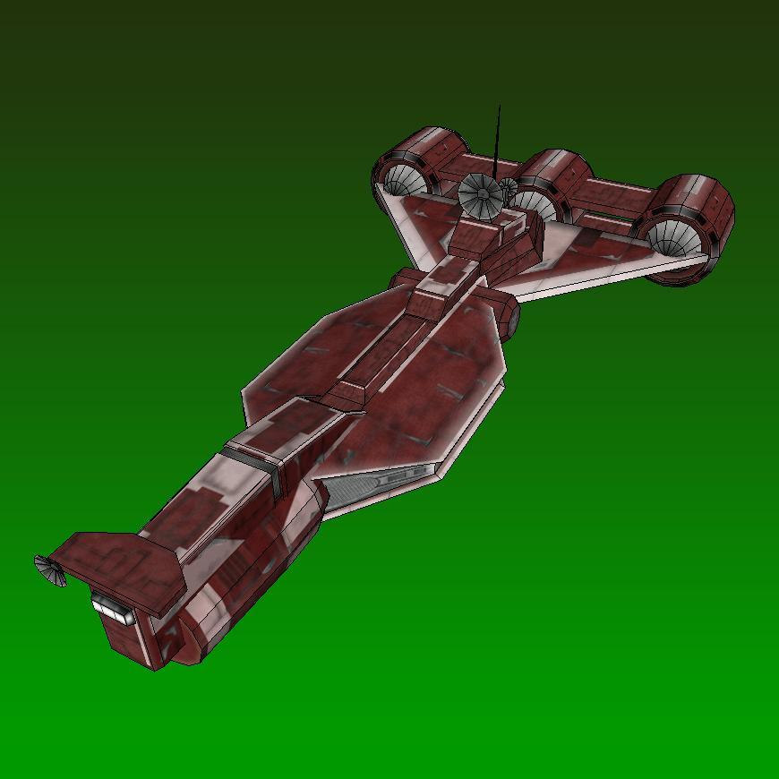 star wars papercraft radiant vii starship. Black Bedroom Furniture Sets. Home Design Ideas
