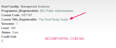 How to Check Noun registrable Courses