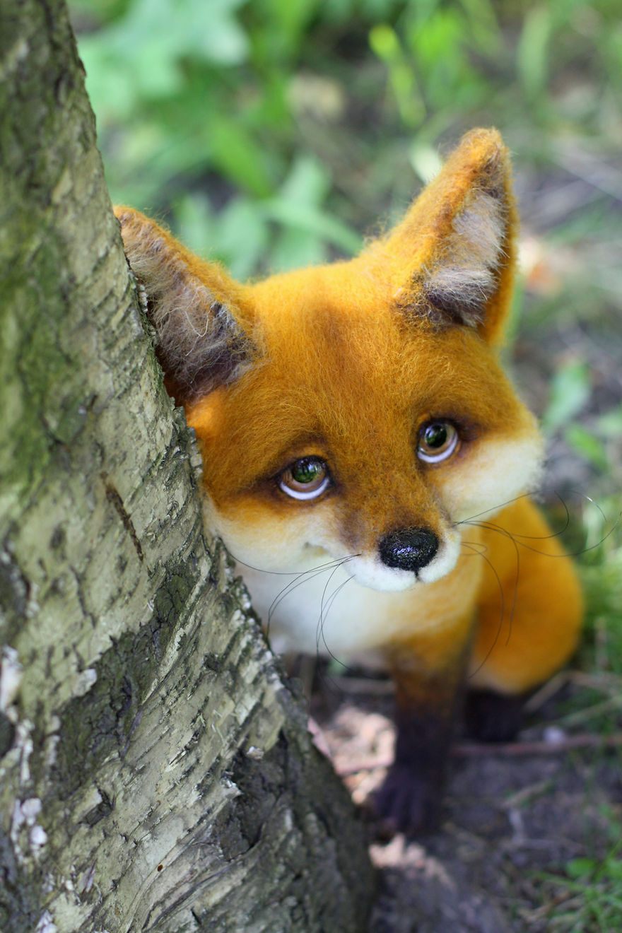 16-Fox-Tatiana-Barakova-Татьяна-Баракова-Plush-little-Animals-made-of-Wool-www-designstack-co
