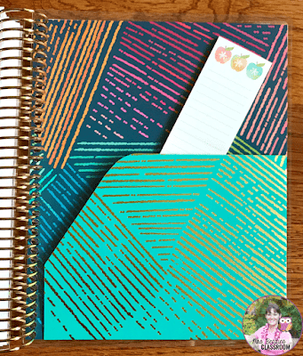 Erin Condren Life Planner inside pocket