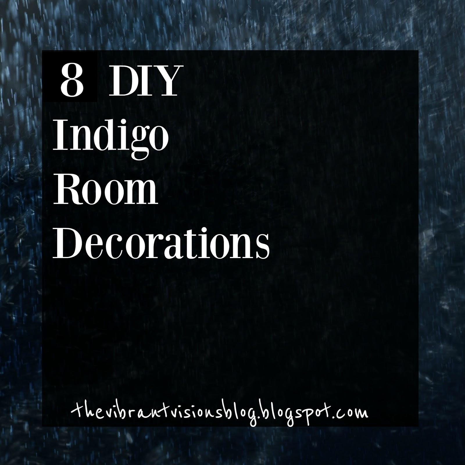 Derrick Jamie Bohemian Garden Wedding 19: The Vibrant Visions Blog: 8 DIY Indigo Room Decorations