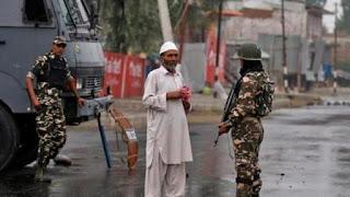 کشمیر میں آج اکیاوسیں دن میں بھی عام زندگی مفلو ج