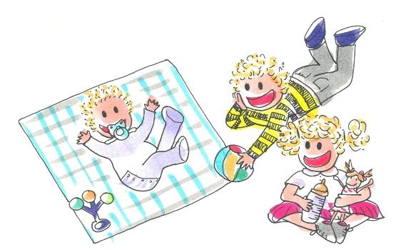 Un bebé llega a la familia de los niños Tina y Leo