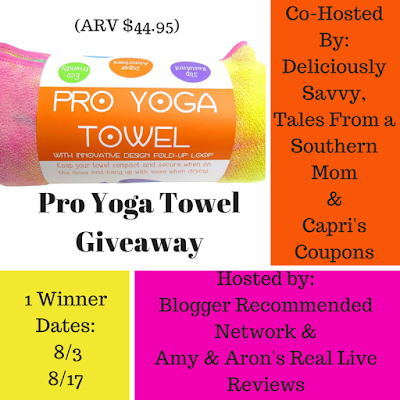Enter the Pro Yoga Towel Giveaway. Ends 8/17