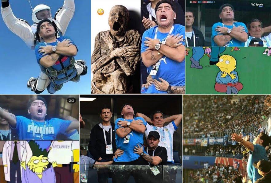 Video divertente Diego Maradona in Nigeria-Argentina: dal dito medio ai memes dei Social