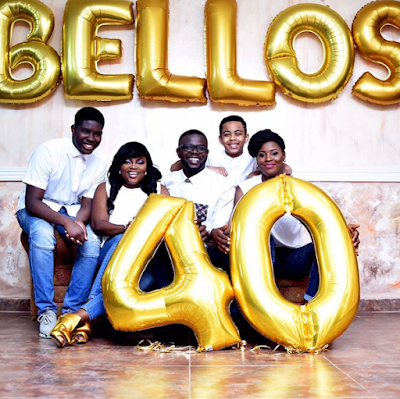 Stunning photos of JJC Skillz, his wife, Funke Akindele and his kids