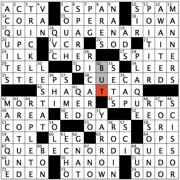 Rex Parker Does The Nyt Crossword Puzzle Waffle Introducer Tue 9 13 16 O Neal S Memoir Of His Rookie Year Central Florida Metropolis Informally Cousin Of Baboon