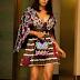 Toke Makinwa steps out in stunning print dress