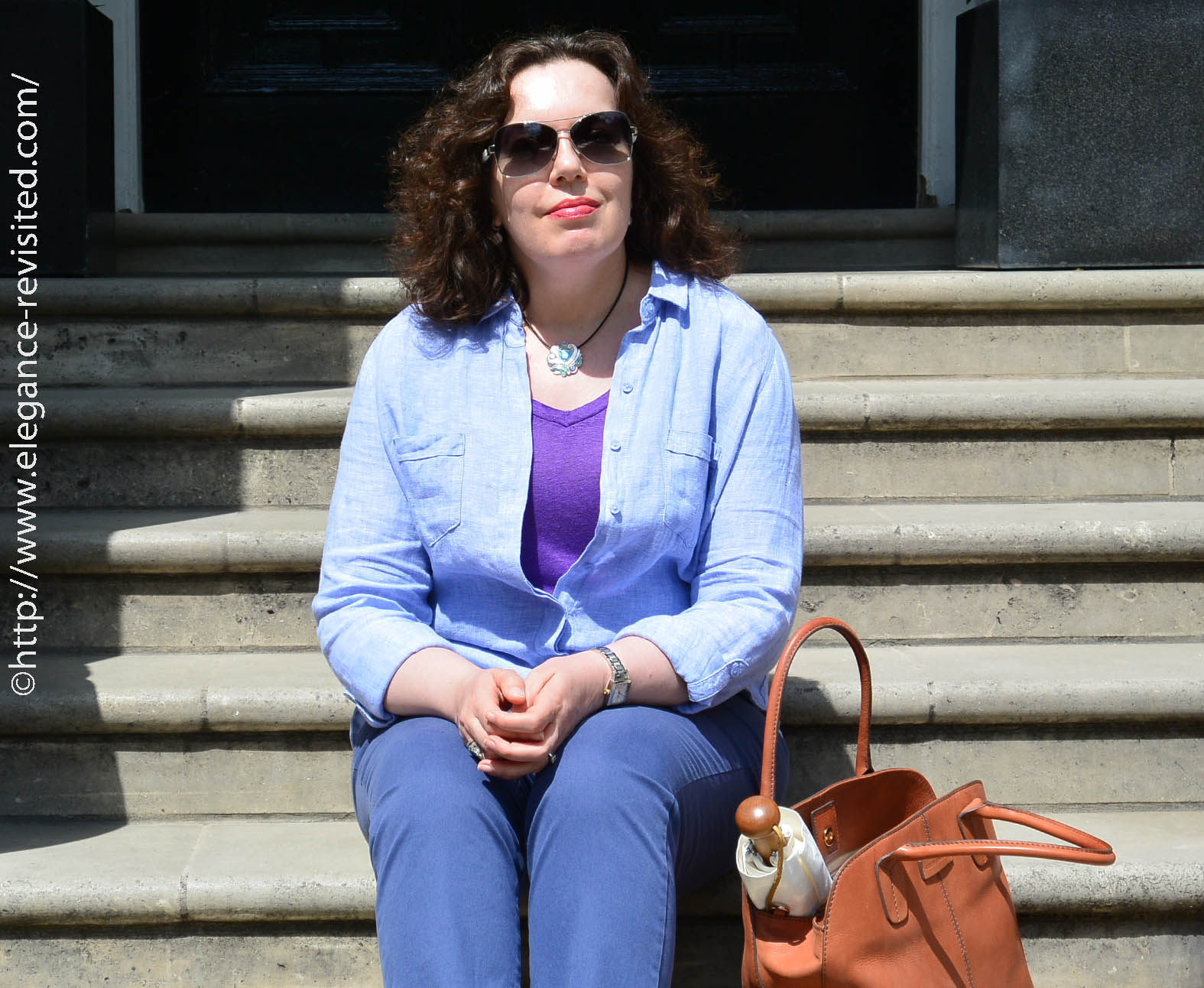 linen summer outfit over 40