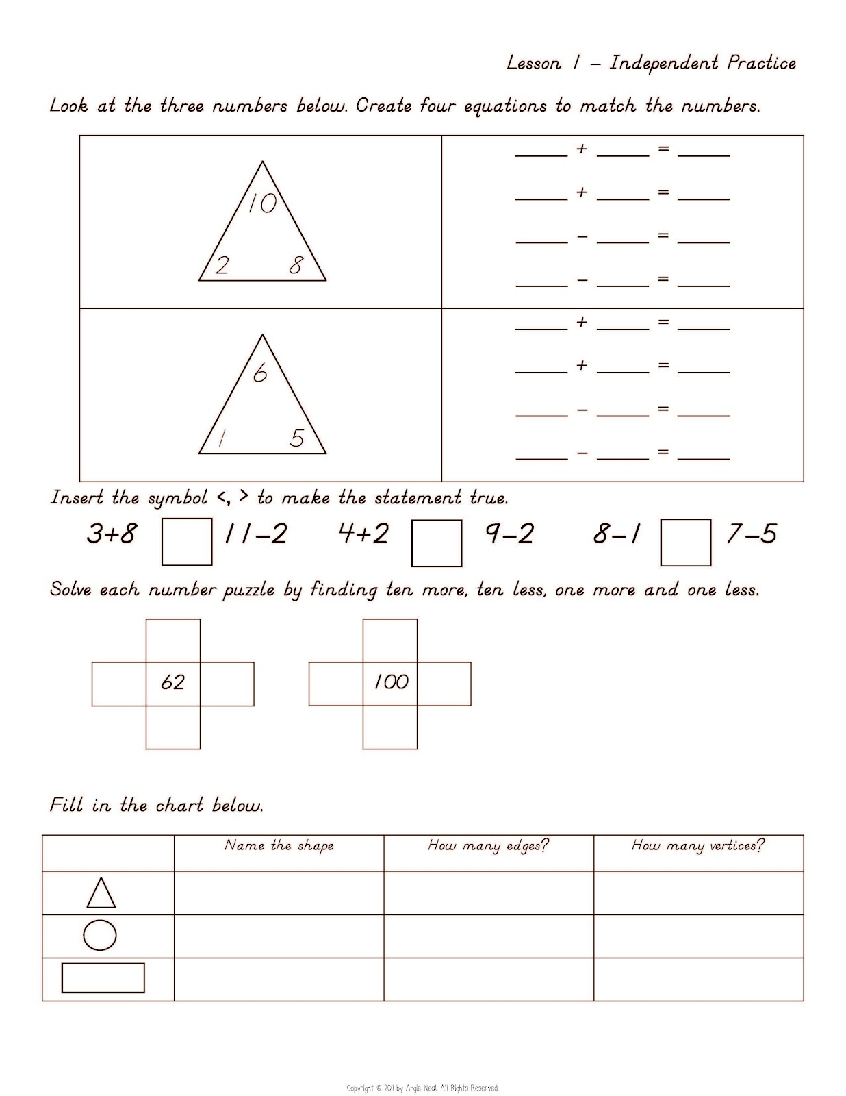Fall Into First First Grade Core Math