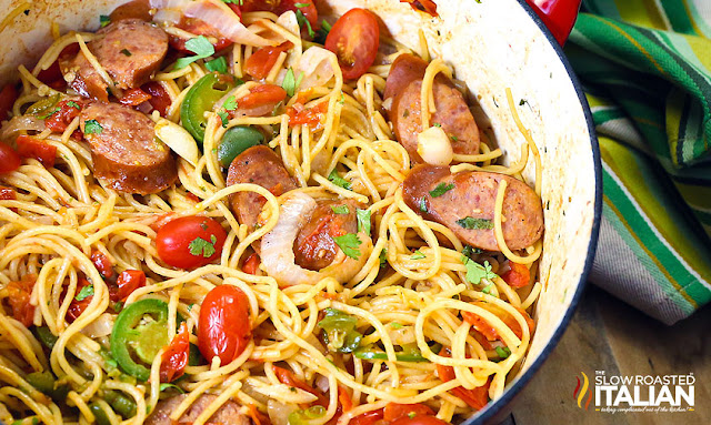 http://www.theslowroasteditalian.com/2015/08/one-pot-mexican-pasta-sausage-recipe.html
