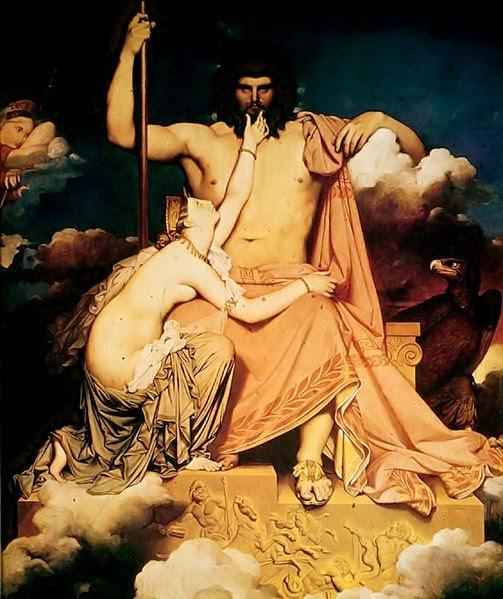 Júpiter e Tétis - Ingres e suas principas pinturas ~ Neoclassicismo