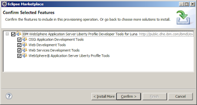 Installing WebSphere Liberty Profile Server Then Adding Features